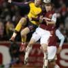 Arsenal kids take an unexpected tumble